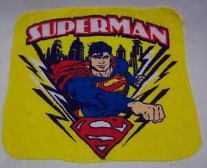 VINTAGE SUPERMAN DC COMICS WASHCLOTH NEW