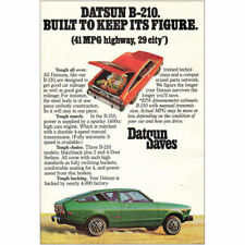 1976 Datsun B-210: Built to Keep Its Figure Vintage Print Ad