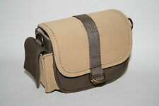 New Nikon Camera Case Light Brown Protective Etui Metal Fittings Magnetic Snap