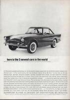 1963 Sunbeam Alpine Hardtop Sports Car 2-Door  PRINT AD