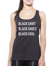 Camisa Negra Negro Zapatos Negro Soul-Gótico para mujer chaleco sin mangas
