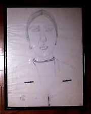 MANUEL RODRIGUEZ LOZANO ORIGINAL INK ON PAPER DRAWING OF MARIA IZQUIERDO