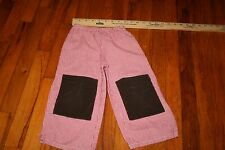 Lollipop Laundry boys boutique 2t pants red/white checkered with brown patches
