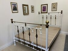 KING SIZE BED METAL FRAMED 5FT WIDE VERY BEAUTIFUL