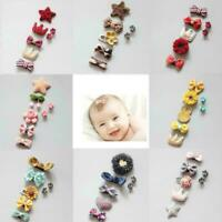 7pcs/set Kids Baby Girl Hair Clips Bow Hairpin Headband Headwear Accessorie V7R7
