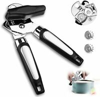 Manual Can Opener Stainless Steel Can Opener with Ergonomic Designed Comfort Gri