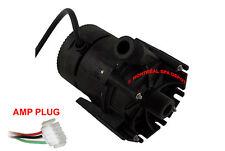 "Laing E10 spa hot tub circulation pump 230V 3/4"" THREADED w/ 4' cord & AMP plug"
