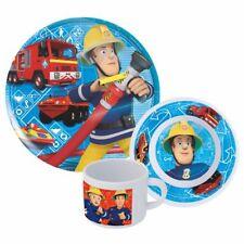 Geschirr-Frühstück-Set | Feuerwehrmann Sam | Teller, Schüssel und Tasse