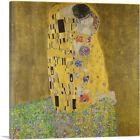 ARTCANVAS The Kiss - Square 1907 Canvas Art Print by Gustav Klimt