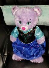 Build A Bear  Disney Purple Frozen Anna Bear Plush with Dress