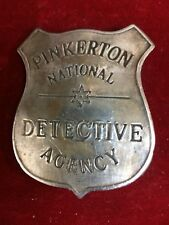 Badge: Pinkerton National Detective Agency, Lawman, Police, Old West