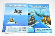"""""""L'era glaciale 4"""" Album collezione cards +magneti 3D Continenti alla deriva-0D3"""