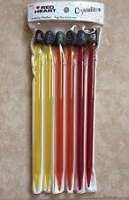 3 Red Heart Crystalite Plastic Knitting Needles-Sizes 8-10mm/Us11-15/Cdn,Uk0-00 0