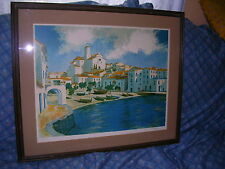 """SEAPORT TOWN """"SIGNED"""" NUMBERED """"233/375"""", LITHOGRAPH PRINT. COLOR & Nice DETAIL."""