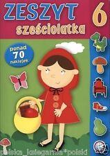 ZESZYT SZESCIOLATKA ksiazki dla dzieci POLISH BOOK polska ksiegarnia *JBOOK