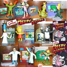Burger King Simpsons Creepy 10 toy 2002 Bart Homer Marge Lisa Otto Kang Hibbert