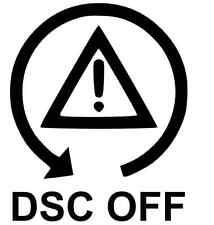 DSC OFF Sticker - BMW E30 E36 E46 drift driting funny car RWD