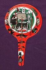 vintage Halloween U.S. METAL TOY NOISEMAKER (metal knocker) witch skeleton