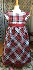 HOLIDAY Red & Gold Plaid BIAS FULL PARTY dress NWT Girls 12 $65 NEW Gymboree