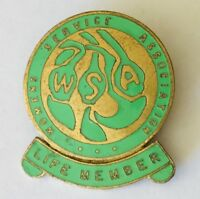 WSA Womens Service Association Life Member Pin Badge Rare Vintage (H8)
