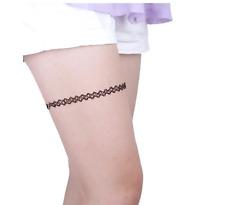Tattoo Stretch For Leg New Black Retro Henna Vintage Elastic Boho 90s For Women