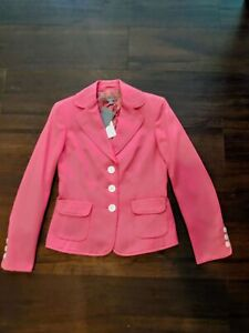 Ann Taylor Womens Coral Pink Jacket Size 2 NEW!