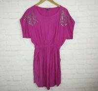 Express women's size Small Silky Purple Rhinestone Short Sleeve Dress