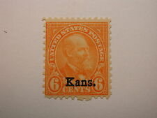 US Scott #664 6 Cent Orange 1929 Kans Ovpt. NH/OG Stamp