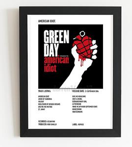 Green Day Poster American Idiot Album Art Polaroid Style Rock  A4 A3