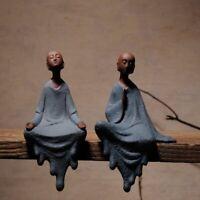 Meditating Monk Buddha Statue Zen Yoga Lotos Sculpture Home Decor Oriental Gift