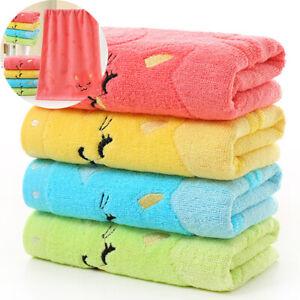 UK Cute Soft Cotton Infant Newborn Babies Bath Wash Cloth  Towels Feeding Wipe