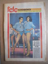 TELE GIORNO 28-03-1980 Studio 80 Maria Laura De Francesco Lentini  [G591]