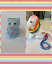 G1 Style Rainbow Sitting Pony CUSTOM - Hqg1c - Pretty Bow & Sky