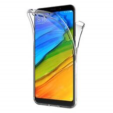 360° Silicone Protective Front & Back Clear Case Cover For Xiaomi Redmi 5 Plus