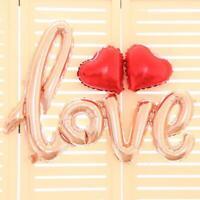 Rose Gold Love Script Foil Balloon Bundle