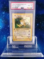 WOW! PSA 1st Edition Raichu HOLO Basis Set Base Pokemon 1. KEIN Glurak