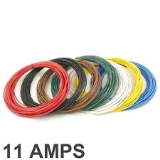 11 Amp Rated 05mm2 Thin Wall Single Core Cable Wire 7 Colour Selection