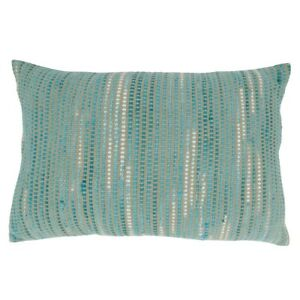 Saro 2813.BL1624BC 16 x 24 in. Striped Woven Oblong Pillow Cover Black