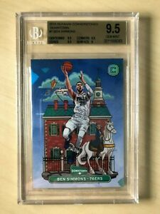 2018-19 Panini Cornerstones Downtown Card #7 Ben Simmons - BGS9.5