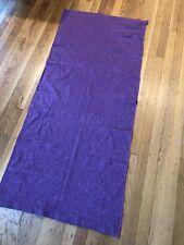 Lululemon Purple Yoga Mat Cover 100% Cotton With 11 Snaps Each End