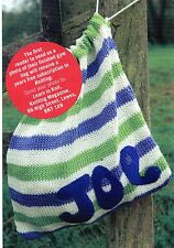 ~ Knitting Pattern For Stripy Gym/Shoe Bag  ~