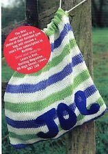 ~ Knitting Pattern For Stripy Gym/Shoe Bag  ~