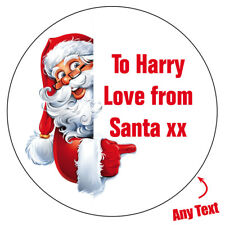 PERSONALISED FATHER CHRISTMAS SANTA Stickers Wrapping label Xmas Party bag -1037