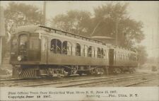 1st Train Over Electrified West Shore RR Manning Photo Utica NY RPPC 1907
