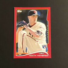 2014 Topps Red Border #249 Heath Hembree  GIANTS  Rookie
