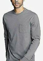 Eddie Bauer Men's Gray Legend Wash Pro Long-Sleeve Pocket T-Shirt XXL Big Tall