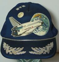 Retro Old Vintage 1980s NASA SPACE SHUTTLE STS SNAPBACK TRUCKER HAT CAP HIPSTER