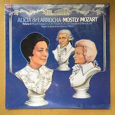 Alicia de Larrocha Mostly Mozart VII Sonatas Sealed 1976 LONDON MINT SEALED