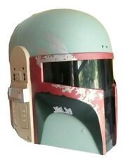 2009 Hasnro Star Wars Boba Fett Helmet   Tested Electronic Talkin Mandalorian