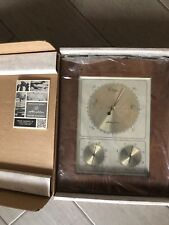 Vintage Airguide Barometer W/ Post Modern Wood Frame NEW!